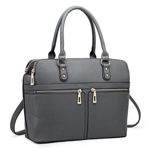 Miss Lulu PU Leather Laptop Handbag
