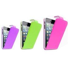 GadgetinBox - Leather Flip Case For Apple iPhone 5