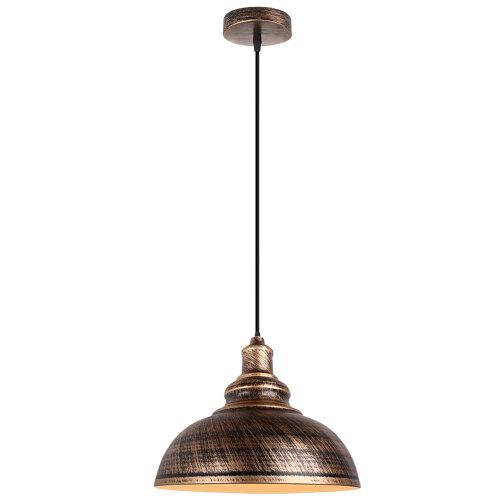 (Bronze+White) Pendant Light Lampshade Metal Hanging Light