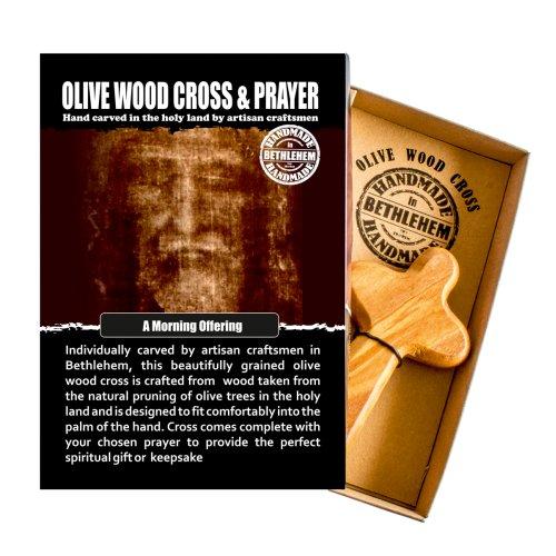 Morning Offering Olive Wood Cross  Hand Made In Bethlehem Keepsake