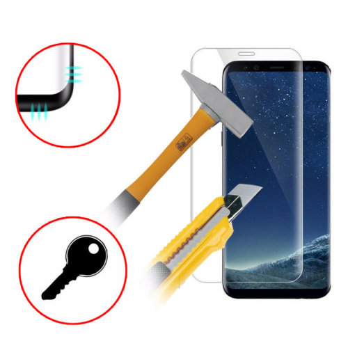 For Samsung Galaxy S8 PLUS Full Curved Tempered Glass LCD Screen Protector Clear