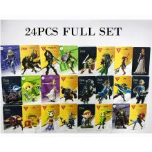 25 Full Set ZELDA BREATH OF THE WILD NFC PVC TAG Card for Switch Wii U, 20 Hearts WOLF LINK x 2