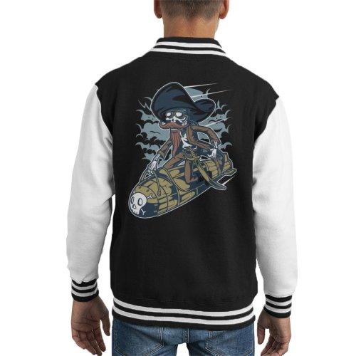 Skeleton Rocket Rider Kid's Varsity Jacket