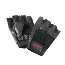 York Leather Weight Lifting Gloves Heavy Duty Gym Training