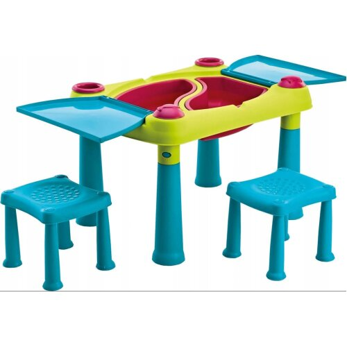 (Yes) Keter CREATIVE FUN TABLE Kids 2 stools option