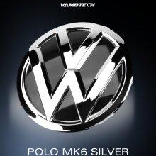 MODIFIX   VW POLO 6C SILVER & BLACK FRONT VW BADGE EMBLEM POLO MK6 R GTI TDI GTD 2014-2016