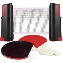 Quickdraw Instant Ping Pong Table Tennis Set with Extendable Net Bats & Balls Game Set