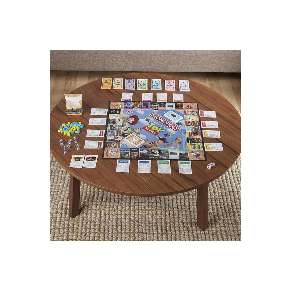 Hasbro 30372415 Game Family Monopoly Toy Story Board for Bilingual English & French