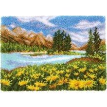 Summer Scenery Rug Latch Hooking Kit (70x50cm)