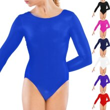 Girls Long Sleeve Gymnastic Stretch Leotard Suit