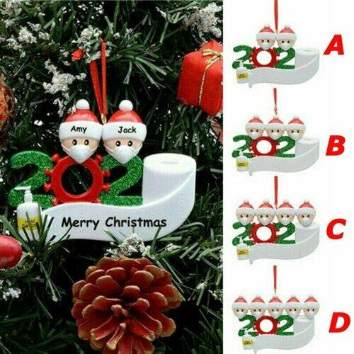 Hot 2020 Xmas Christmas Tree Hanging Pendant Ornaments Family Ornament Decor!