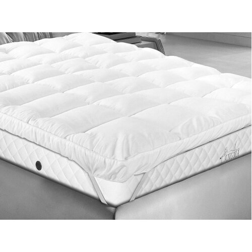 """(10CM Micro Fiber Mattress Topper (Small Double)) Super Soft Box Stitched 4""""(10cm) Thick Extra Deep Air Flow Air Max Super Soft Microfibre Mattress Topper Overlay Air Circulation to keep you Cool."""