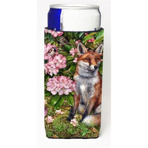 Fox Waiting in Flowers Michelob Ultra Can coolers for Slim Cans