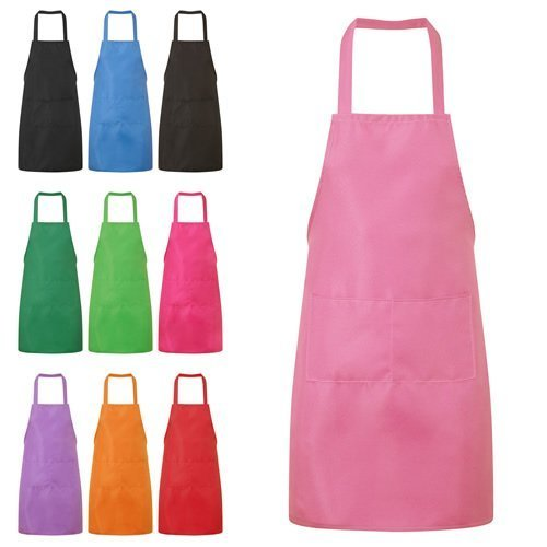 (Baby Pink) Jazooli Plain Unisex Cooking Apron With Twin Pockets