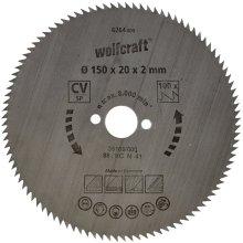 Wolfcraft 6264000 150 x 20 x 2mm CV Circular Saw Blade with 100 Teeth - Blue Series