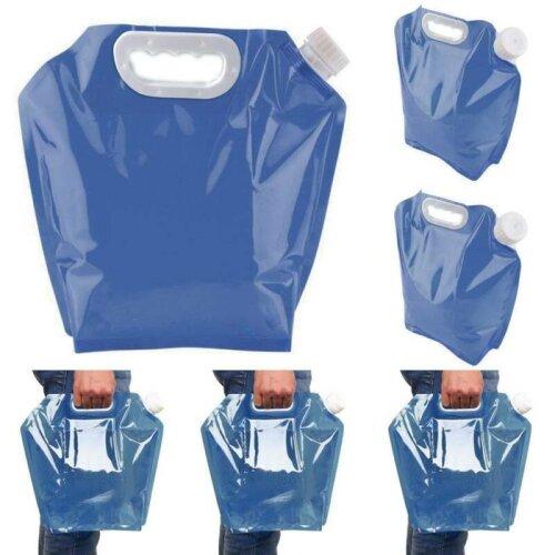 Water Bag Folding Outdoor Camping Travel Hiking Sports Water Storage Holder Bag