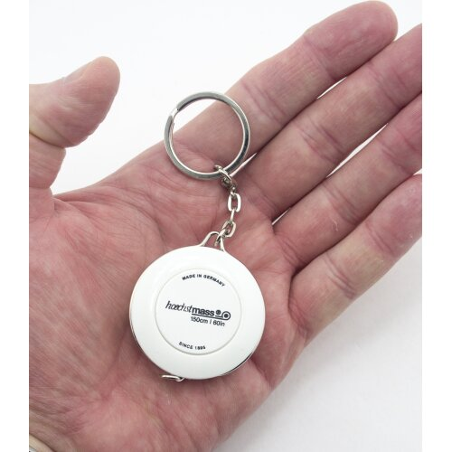 Fun Portable Hoechstmass Roller Tape Measures White With Key Ring 150cm 60in