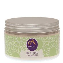 Absolute Aromas De-Stress Epsom Bath Salts 300g - Magnesium Sulphate Infused with 100% Pure Blend of Bergamot, Chamomile, Frankincense, Jasmine and Sa