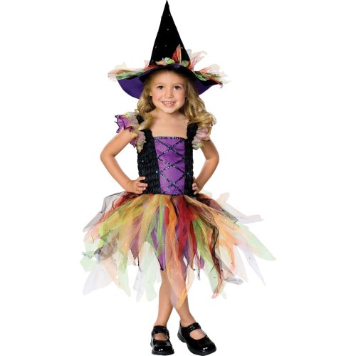 Kids' Glitter Witch Costume | Girls' Fancy Dress Outfit