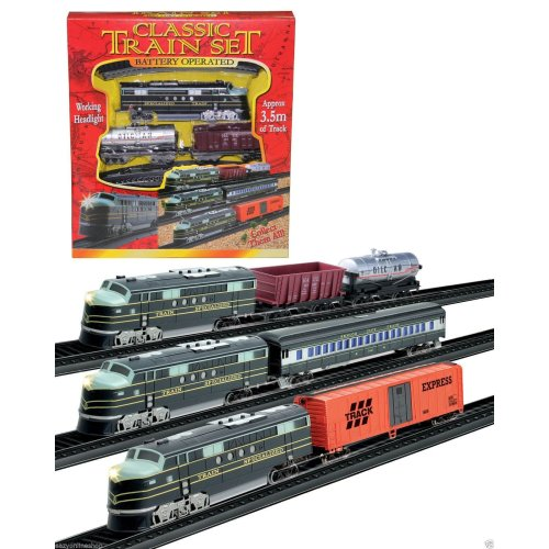 CLASSIC RETRO VINTAGE TRAIN CARRIAGE BATTERY OPERATED TRAINS 3.5m TRACK GIFT