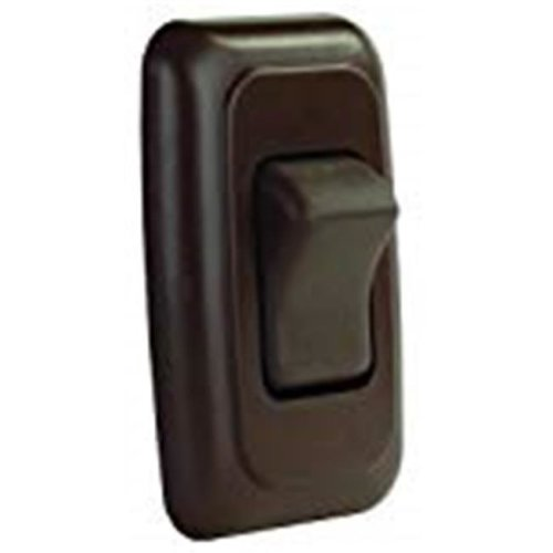 JR Products 0305.1230 On-Off Rocker Switch with Bezel, Brown