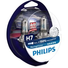 Headlight Bulbs Xenon Phillips Racing White Light Bulb Pack of 2