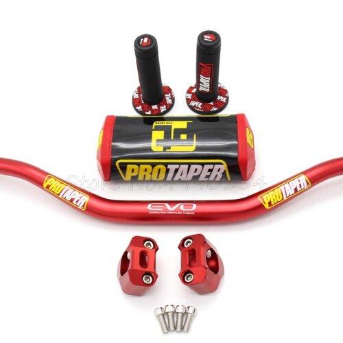 "Handlebar PRO Taper Pack Fat Bar 1-1/8"" Dirt Pit Bike Motocross Motorcycle Handlebar"