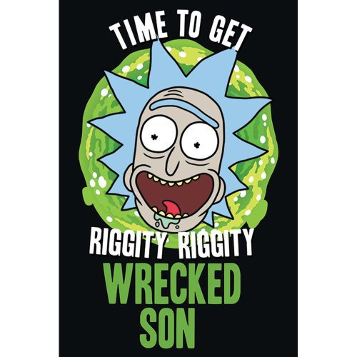 "Poster - Studio B - Rick & Morty - Wrecked Son 36x24"" Wall Art P4255"