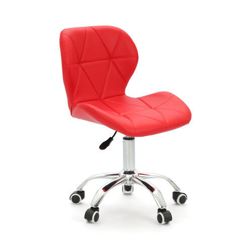 (Red) Adjustable Computer Desk Lift Swivel  Office Chair
