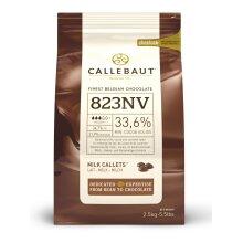 Callebaut milk chocolate chips (callets) - 2 x 1kg bags