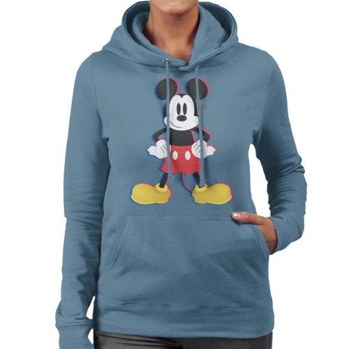 Disney Mickey Mouse 3D Effect Pose Women's Hooded Sweatshirt