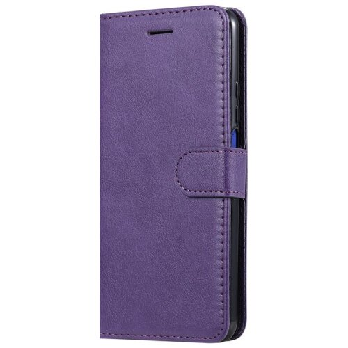 (Purple) Huawei Y6 2019 Wallet Flip Case Leather Magnetic Stand Cover