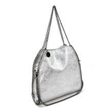 VK5326-2 SILVER - Shoulder Bag With Chain Handle