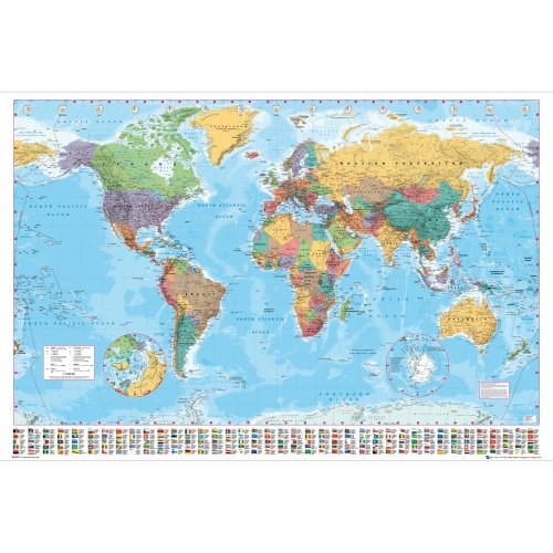 World Map 2015 Giant Poster