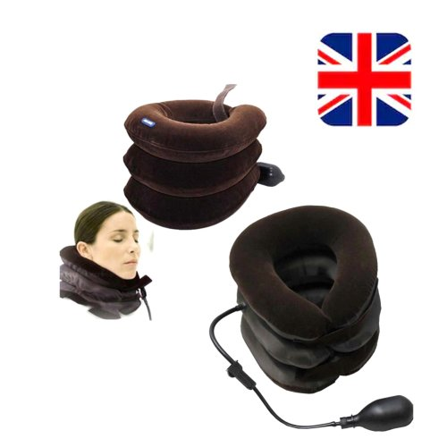 Air Inflatable Pillow Cervical Head Neck Pain Support Brace Traction Device