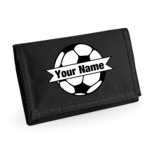 Childs Football Wallet Personalised Name