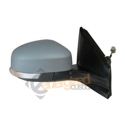 Ford Mondeo Mk4 1/2011-> Powerfolding Wing Door Mirror Primed Cover Drivers Side