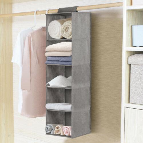 5-Drawer Hanging Wardrobe Organiser | Hanging Shelves