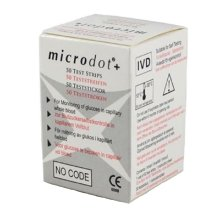 Microdot Blood Glucose Test Strips 50 Strips