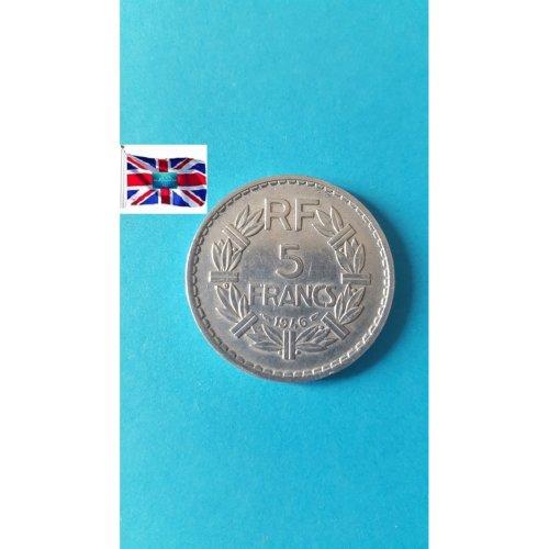 """France 1946 """"5 Francs - Used"""