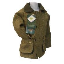 Walker & Hawkes - Kids Derby Coat Tweed Shooting Hunting Country Jacket - Light Sage