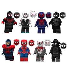 8PCS Spiderman Collection Minifigures Building Blocks Compatible Lego