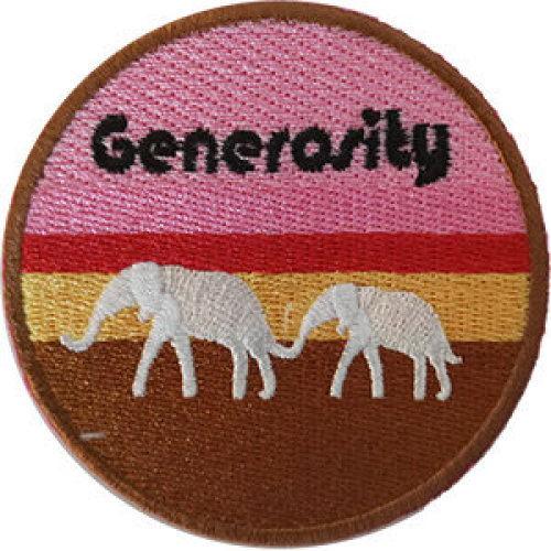 Patch - Inspirational - Generosity With Elephants Icon-On p-dsx-4862