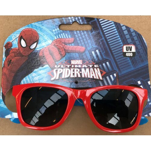 Kids Licensed Spiderman Sunglasses (Red Frame)