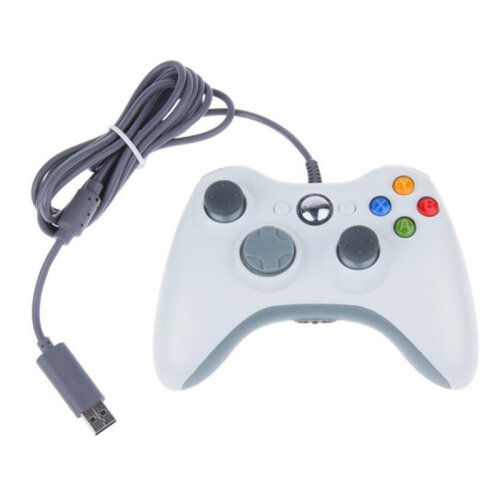 (White) Xbox 360 Controller Gamepad  USB Wired Game Pad For Microsoft Xbox 360 PC