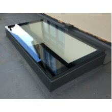 600x1500 Triple Glazed Self-Cleaning Toughened Glass Skylight with Timber Kerb