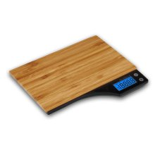 Kabalo Wooden Bamboo Kitchen Household Food Cooking Weighing Scale 5kg capacity 5000g/1g