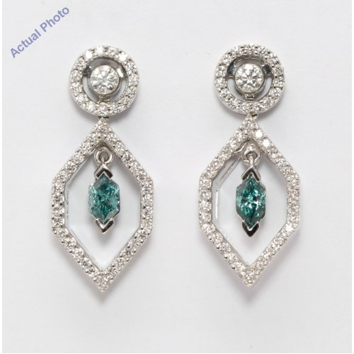 Blue Drop Bead Earrings for American Model 22 in Doll