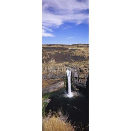 High angle view of a waterfall  Palouse Falls  Palouse Falls State Park  Washington State  USA Poster Print by  - 12 x 36