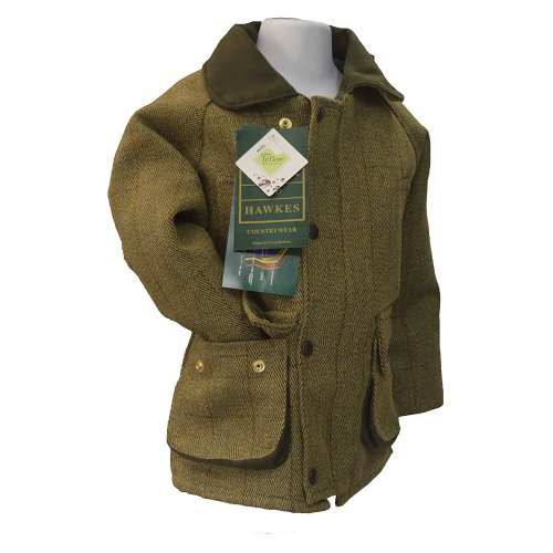 Walker & Hawkes - Kids Derby Coat Tweed Shooting Hunting Country Jacket - Light Sage